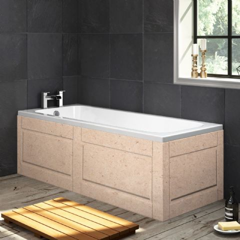 Paintable Shaker style MDF 1 Piece Bath Panels